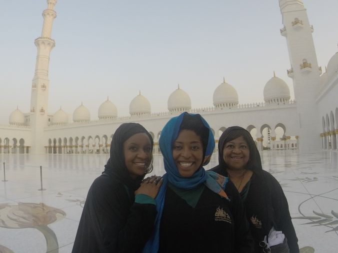 Auntie, Mom and Me at the Mosque