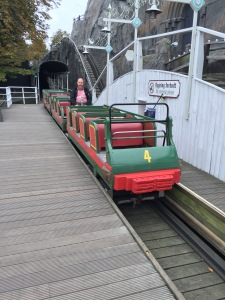 The roller coasters are still run manually